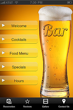 Bars&Restaurants 1 App Templates