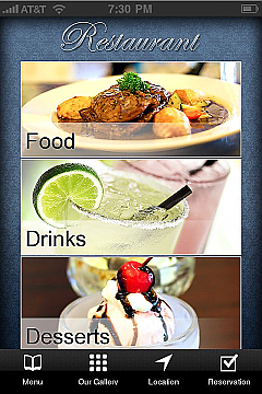 Bars&Restaurants 2 App Templates