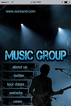 Music Band Theme App Templates