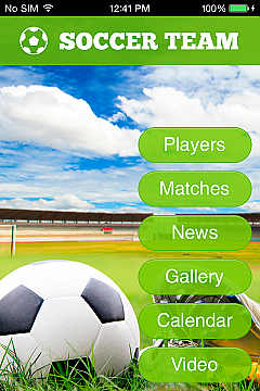 Soccer Team 2 App Templates