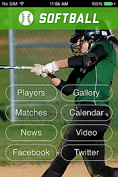 Softball 2 App Templates