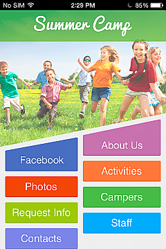 Summer Camp 2 App Templates