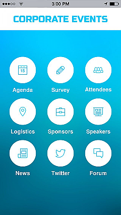 Corporate Events 2 App Templates