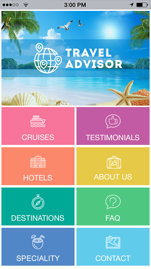Travel Advisor App Templates